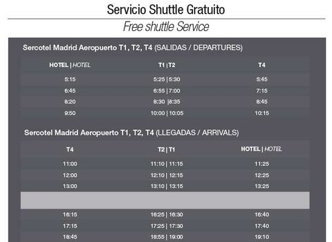 Free shuttle service (hotel-airport and airport-hotel)